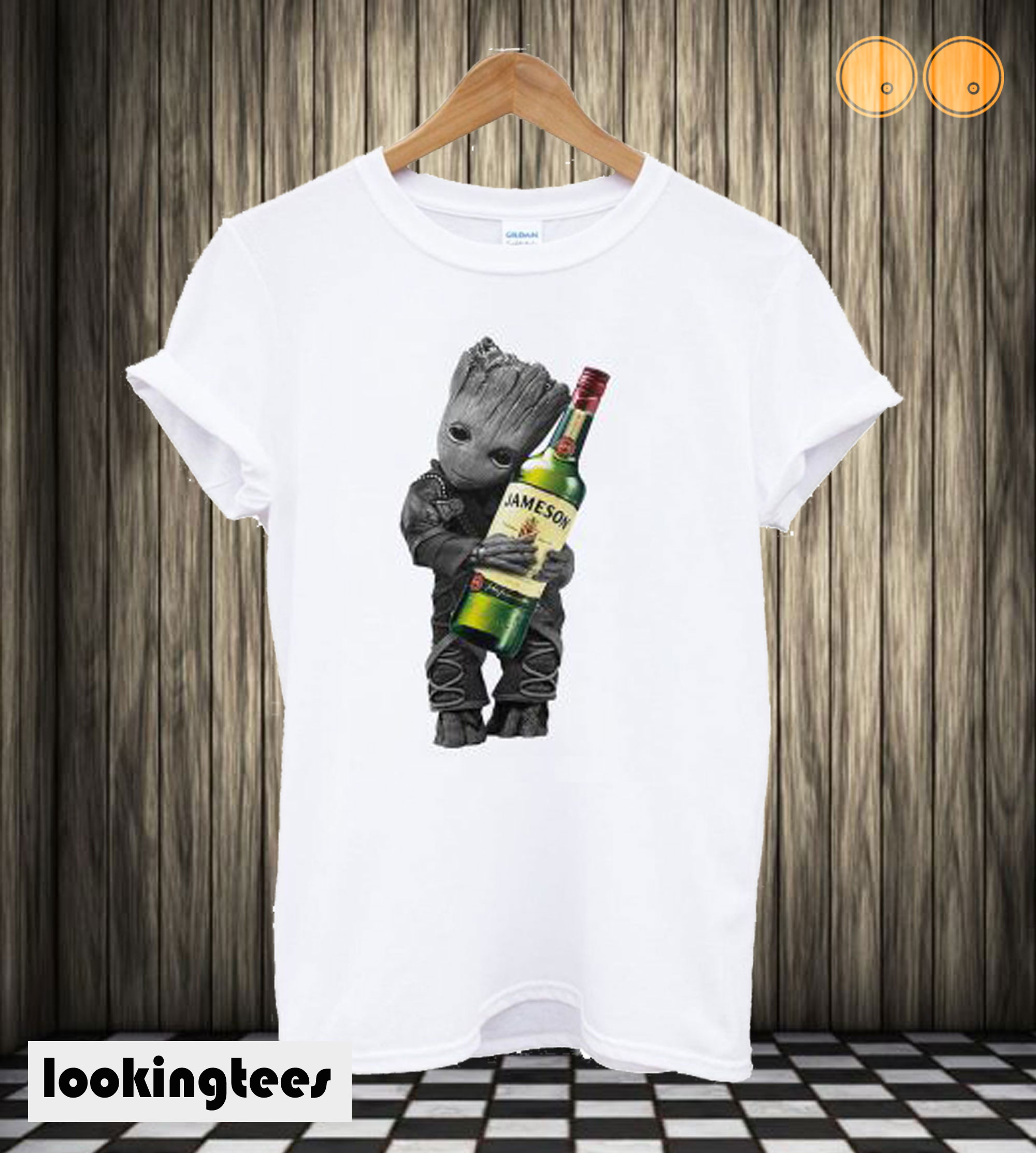 Baby Groot Hug Jameson Wine T shirt
