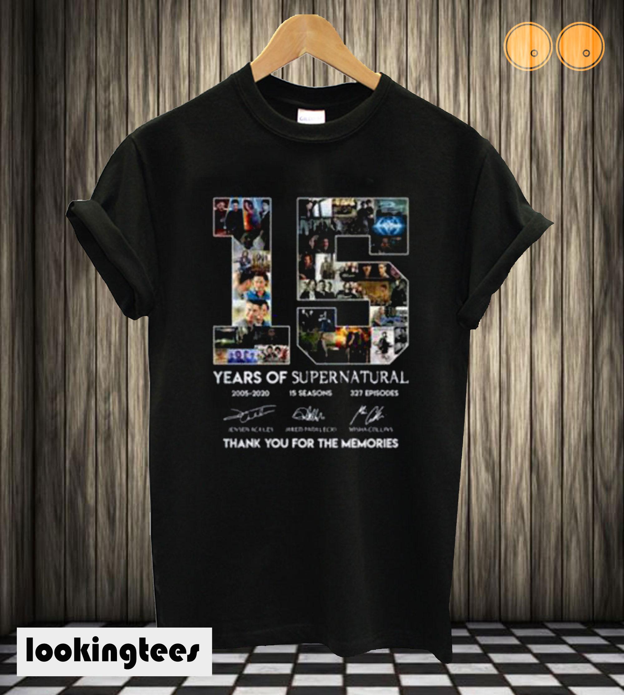 15 Year Of Supernatural T shirt