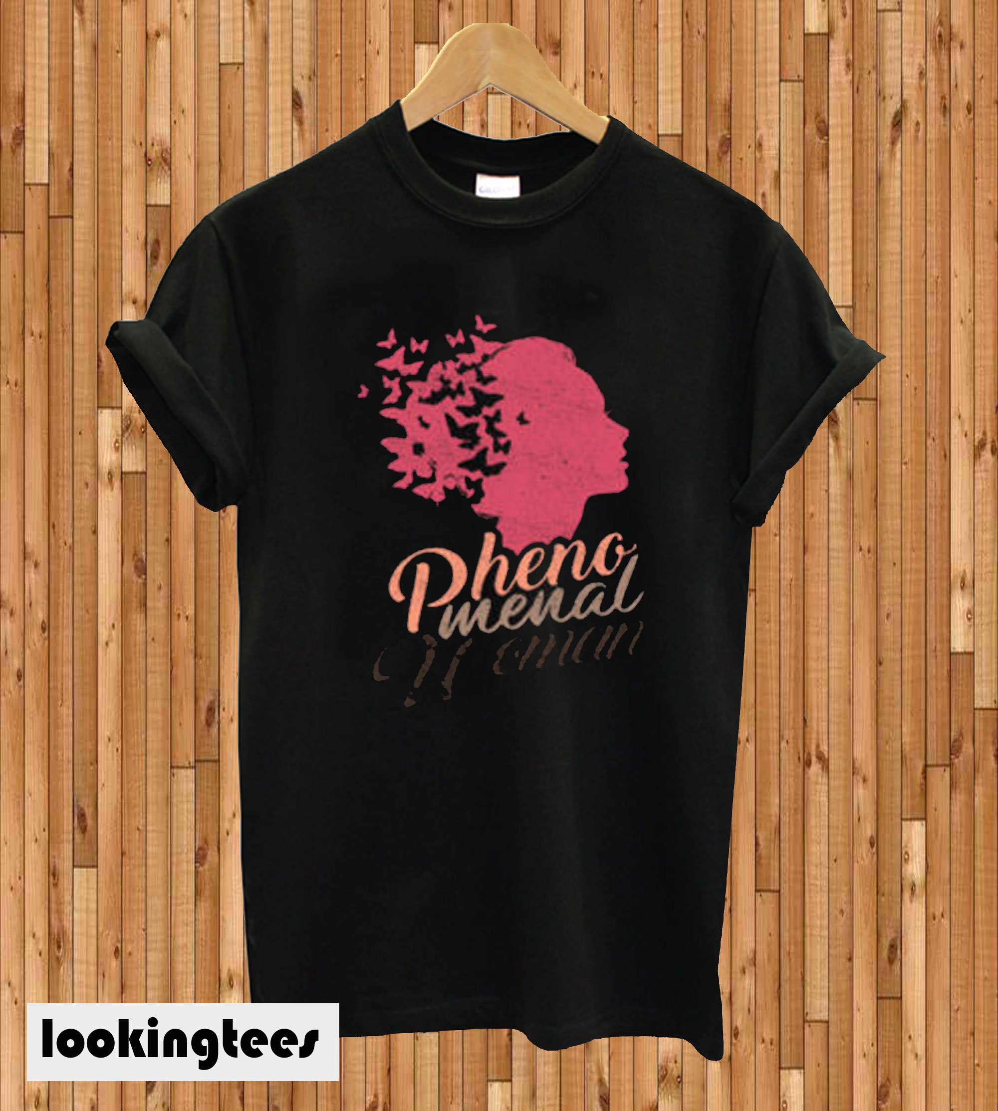 'Butterflies Phenomenal Woman T-shirt