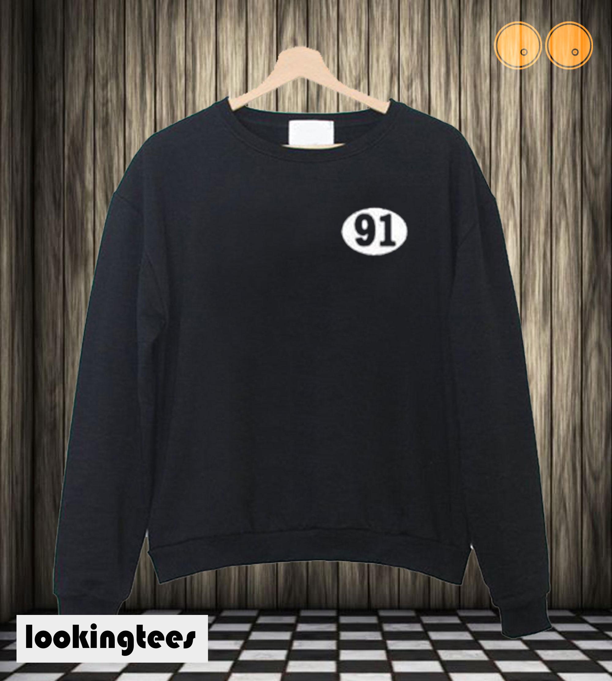 91 Number Sweatshirt