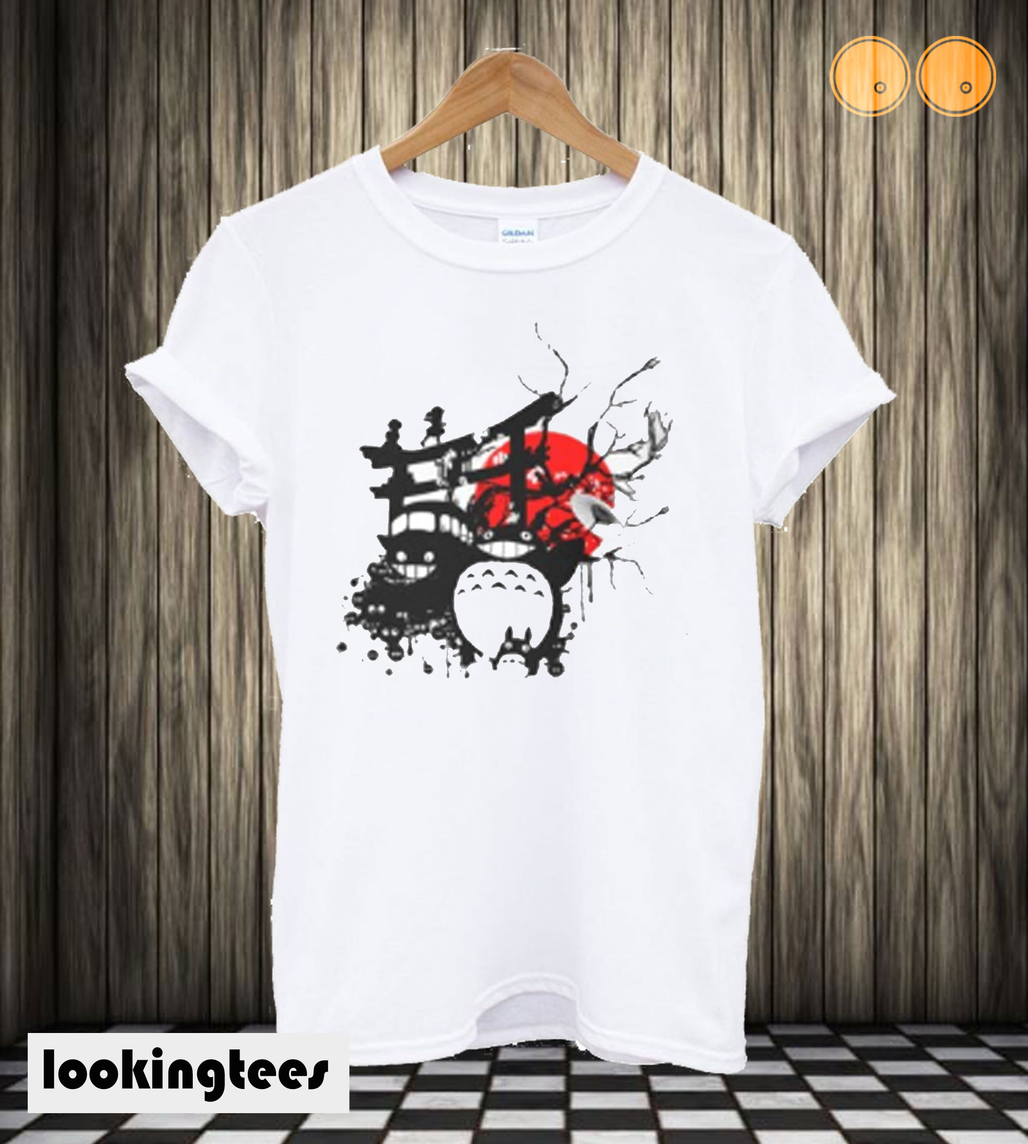 Japan Spirits Fitted Scoop T-shirt