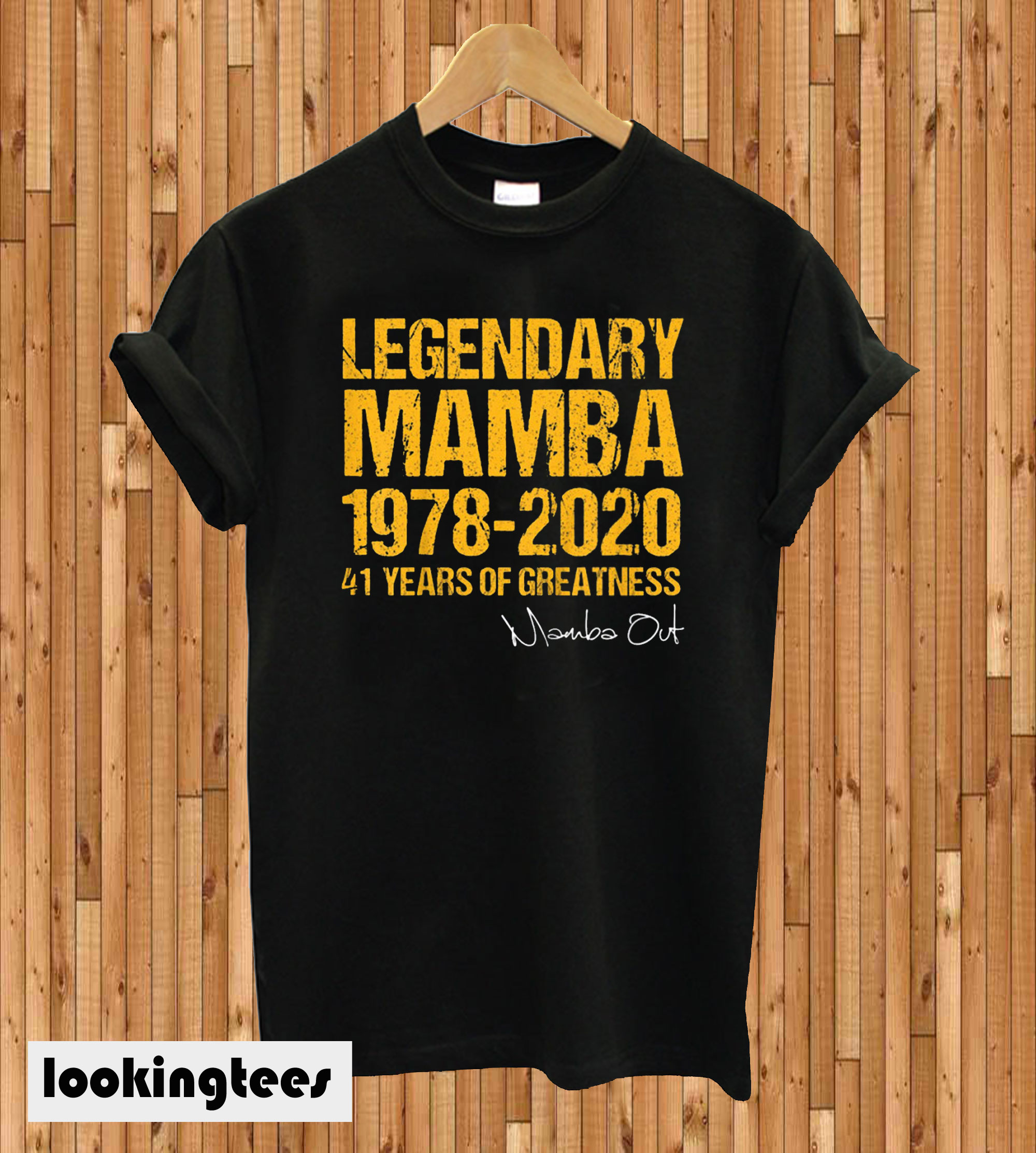 Mamba Out 1978 2020 41 Years Of Greatness T-shirt