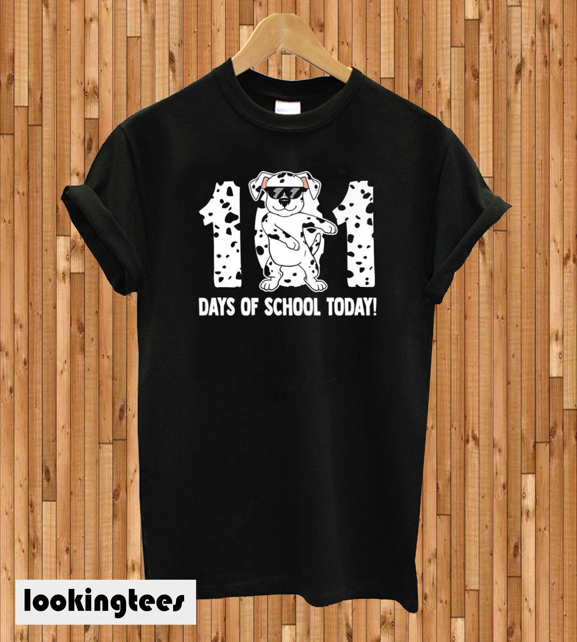 101 Days Of School Dalmatian Dog T-shirt