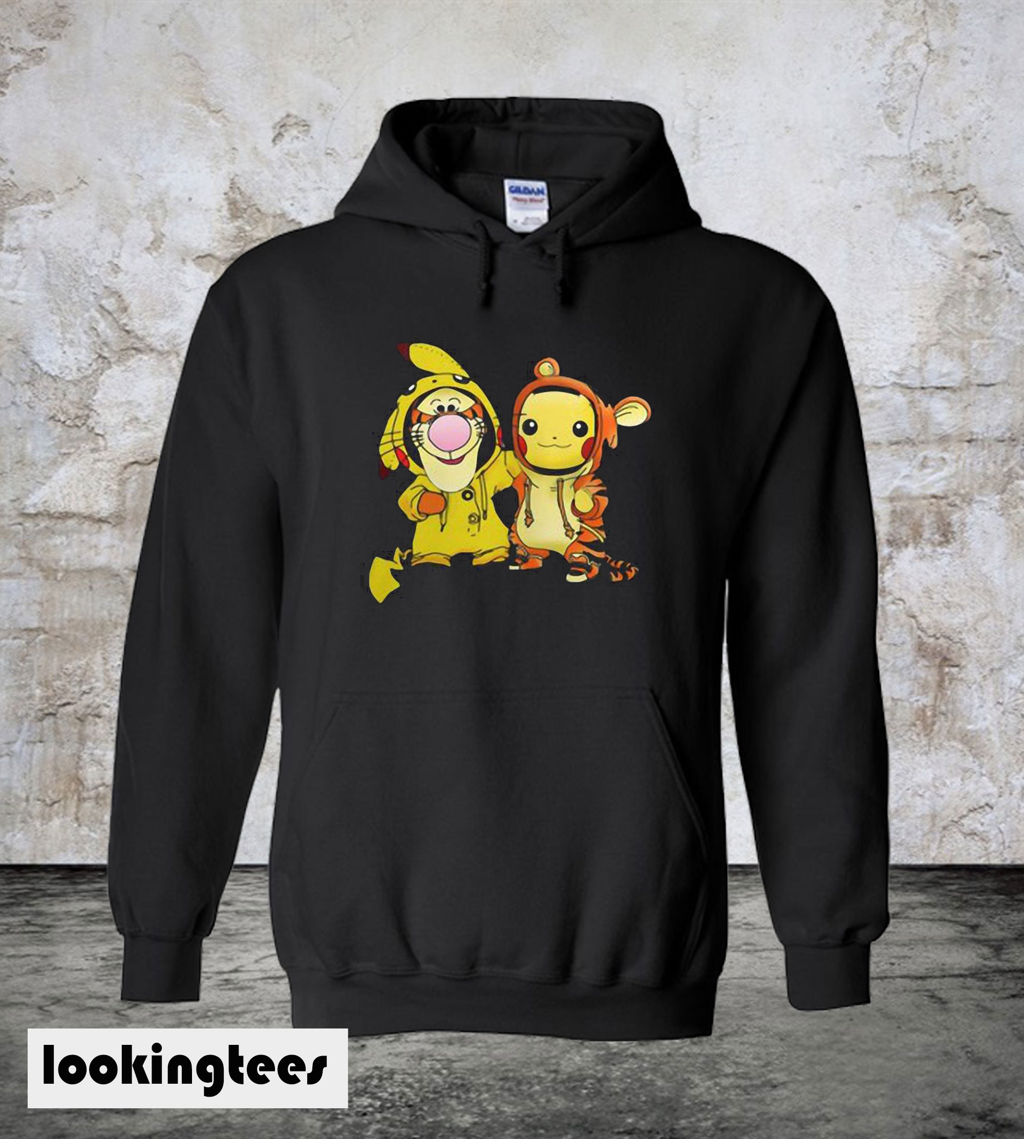 Baby Tigger And Pikachu Hoodie